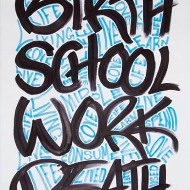 Birth School Work Death
