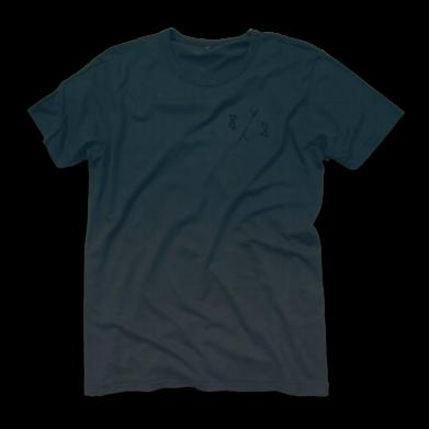 8y8 grey teal dip-dye t-shirt bamboo