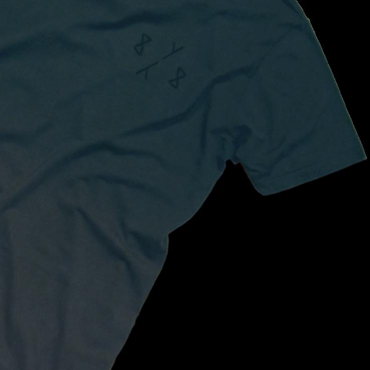 8y8 grey teal dip-dye t-shirt eco-friendly