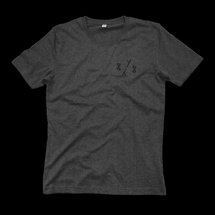 8Y8 Head Full of Pills Grey T-shirt organic cotton