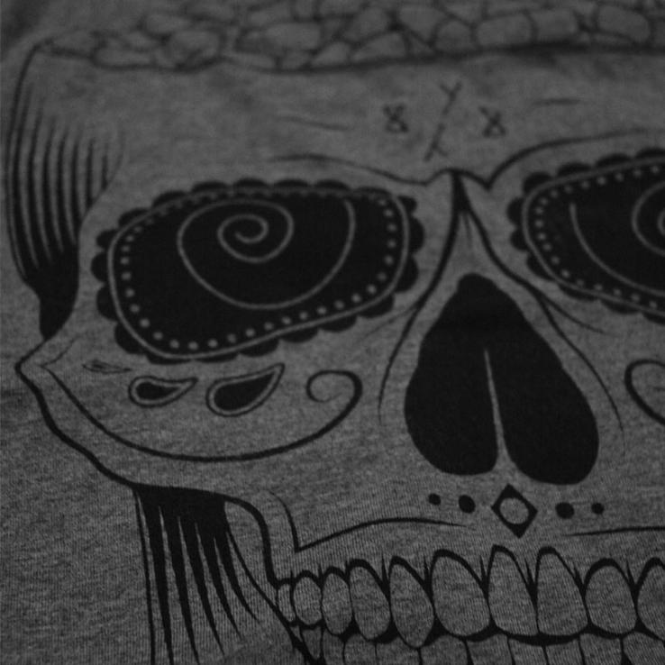 8Y8 Head Full of Pills Grey T-shirt screen-print