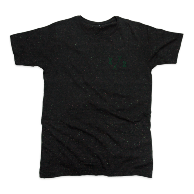 8y8 speckled t-shirt black