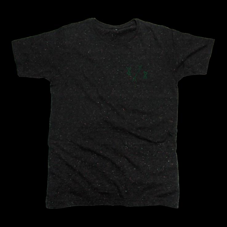 8y8 speckled t-shirt black