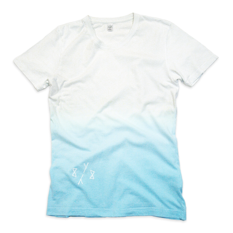 8Y8 White Turquoise Dip-Dye T-shirt eco-friendly